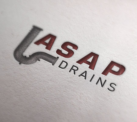ASAP blocked drains logo on white